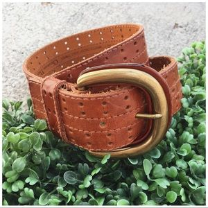 Christian Dior English Saddle Cowhide Leather Belt